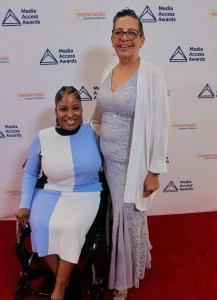 Tatiana Lee and her mother on the Red Carpet at the Media Access Awards