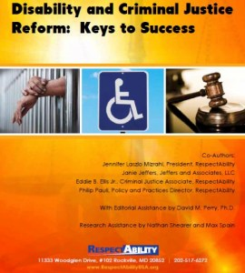 Title page for Disability and Criminal Justice Reform: Keys to Success
