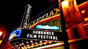 Sundance Film Festival on theater marquee