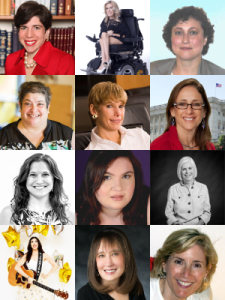Headshots of all 12 speakers at the Empowerment Training for Jewish Women with Disabilities