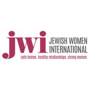 JWI (Jewish Women International) Logo. Safe Homes. Healthy Relationships. Strong Women.