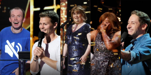 Lost Voice Guy, Drew Lynch, Susan Boyle, Kechi and Samuel J Comroe on America's Got Talent The Champions