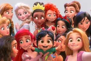All fo the Disney princesses smiling in Ralph Breaks the Internet
