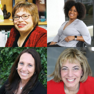 Individual headshots of Judith Heumann, Tatiana Lee, Candace Cable, and Jennifer Laszlo Mizrahi
