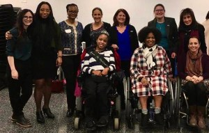 Mothers training Panelists, Co-Facilitators, and RespectAbility staff smile together