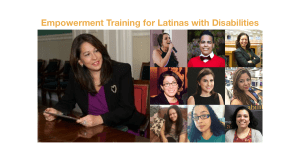 Empowerment Training for Latinas with Disabilities. photos of Carol Robles-Román and 9 other speakers