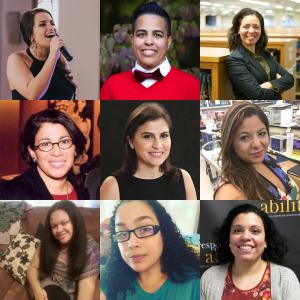 Headshots of 9 speakers at the training Top row (L-R): Amanda Lopez, Allilsa Fernandez, Shirley Leyro Middle row (L-R): Clarissa Ramos-Cafarelli, Jessica Palacios, Kaliris Salas-Ramirez Bottom row (L-R): Stephanie Infante, Crystal Vazquez, Elizabeth Jones