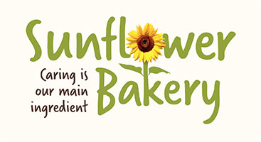 Logo for Sunflower Bakery Caring is our main ingredient