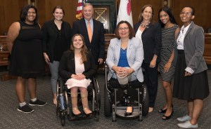 RespectAbility Policy Fellows with Senator Tammy Duckworth
