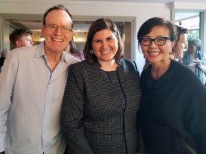 Jonathan Murray, Lauren Appelbaum and Christine Cadena smile together