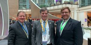 Steve Bartlett, Mark Gordon and Philip Pauli at the National Governor's Association annual meeting, smiling together