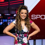 Victoria Arlen on the set of SportsCenter