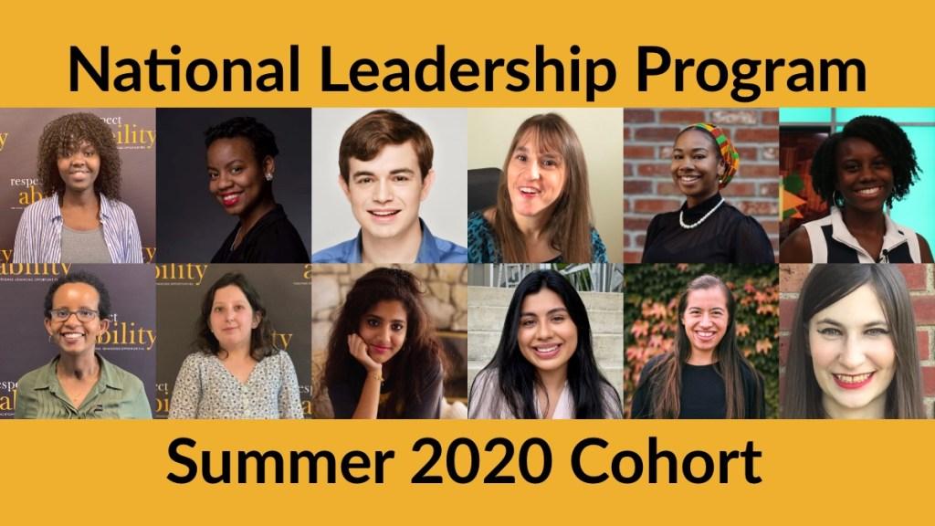 National Leadership Program Summer 2020 Cohort. Individual headshots of 12 Summer/Fall Fellows smiling