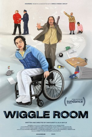 Poster image of Wiggle Room by Sam Guest and Julia Baylis, an official selection of the Shorts Program at the 2021 Sundance Film Festival.