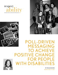 "Cover page for ""Poll-Driven Messaging to Achieve Positive Change for People with Disabilities by Meagan Buren"""
