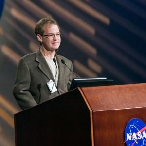 Michael Jordan Segal speaking at NASA