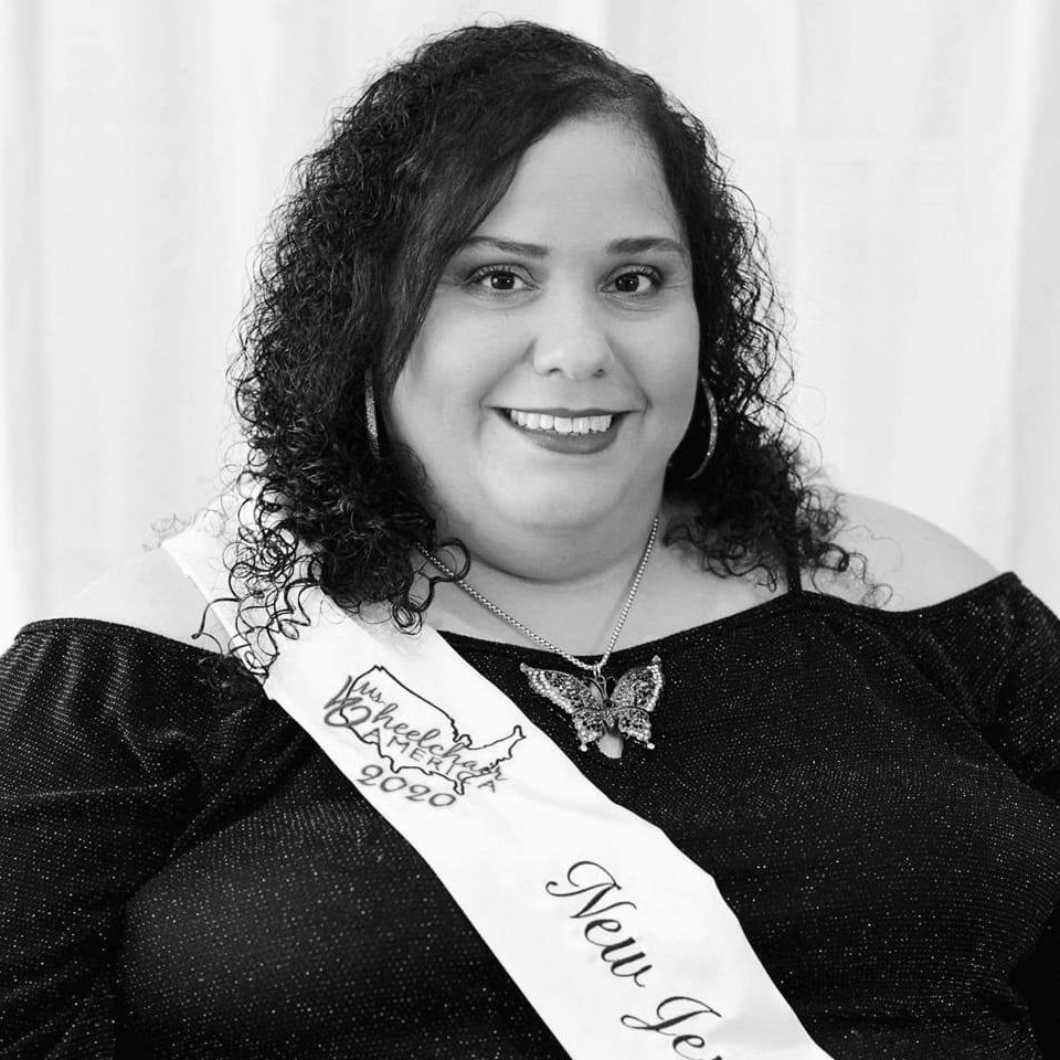 Millie Gonzalez headshot wearing a sash for Ms. Wheelchair New Jersey 2019