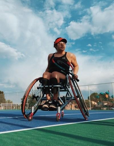 Krista Ramirez-Villatoro on a tennis court
