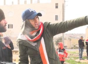 Alaa Zabara working on the set of Selahy
