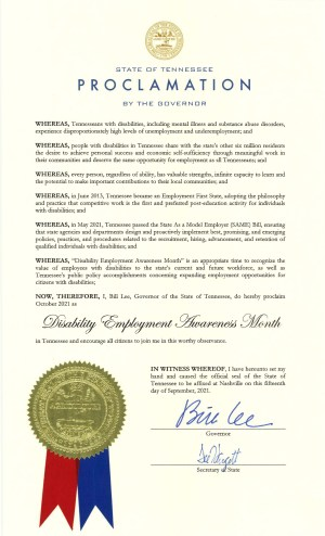 Tennessee NDEAM 2021 proclamation