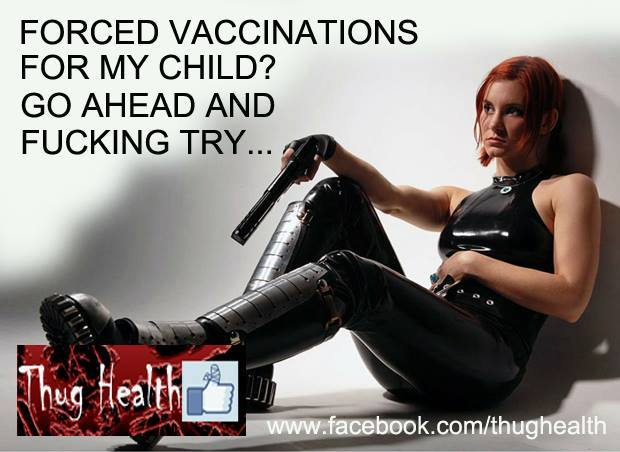 Apparently, there has to be eye candy for the male antivaccine activists seeing themselves as resisting tyranny.