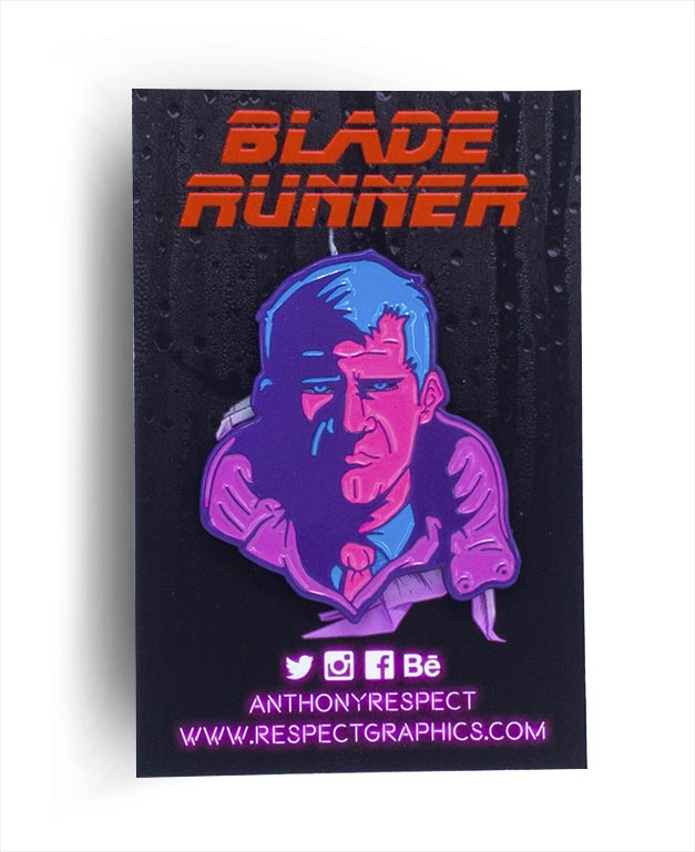 Blade Runner Deckard Replicant Edition Soft Enamel Pin By Respect