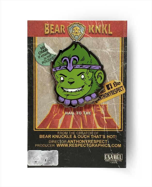 Monkey King Beast Boy Shaw Bros Edition Black Nickel Hard Enamel Pin By Respect