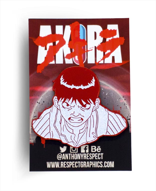 Akira Kaneda Atomic Edition 80s Anime Soft Enamel Pin by Respect