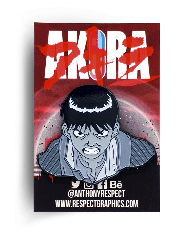 Akira Kaneda Manga Edition 80s Anime Soft Enamel Pin by Respect
