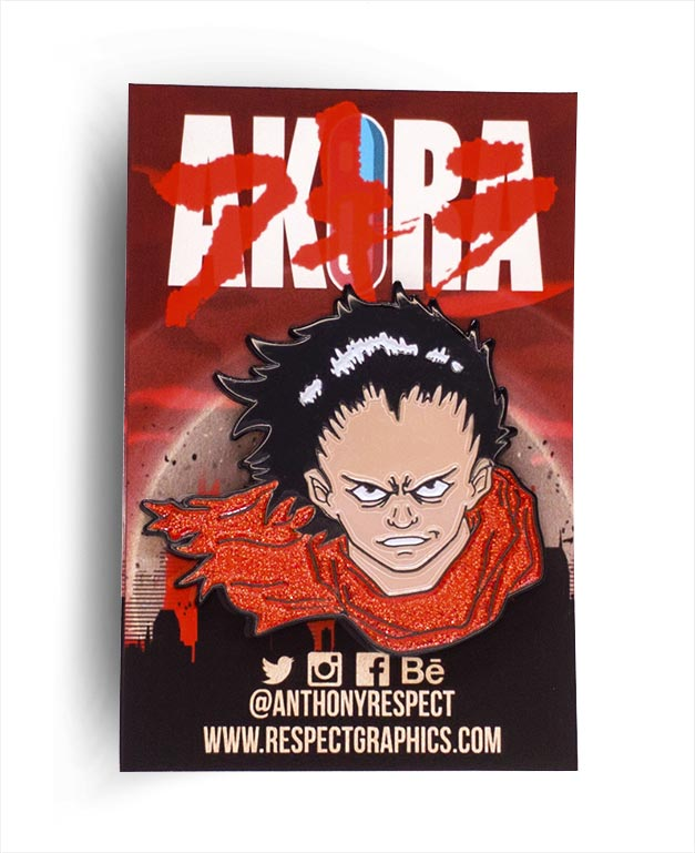 Akira Tetsuo Glitter Edition 80s Anime Soft Enamel Pin by Respect