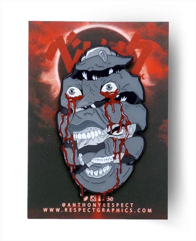 Berserk Behelit Guts Manga Edition Soft Enamel Pin With Epoxy ScreenPrint By Respect