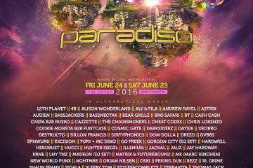 Paradiso 2016 lineup