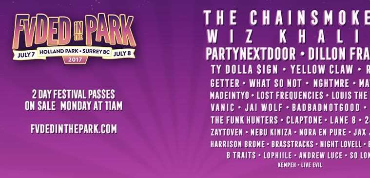 Fvded In The Park Drops 2017 & Announces The Chainsmokers as Headliners
