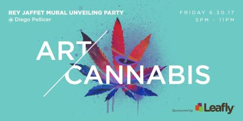 Leafly & Diego Pellicer Unveiling 100+ Foot Mural in Seattle June 30th