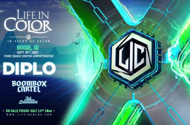 Life In Color World Tour Books Diplo & Boombox Cartel For Boise, Idaho