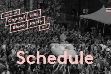RMR's Saturday Schedule for Cap Hill Block Party