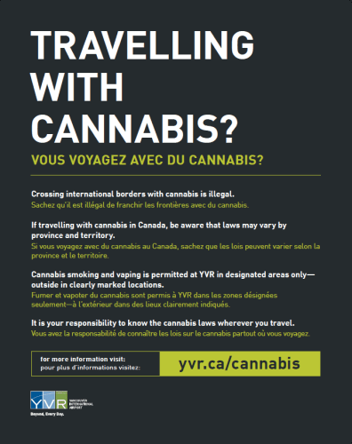 Vancouver Airport Now Has Designated Cannabis Consumption Areas