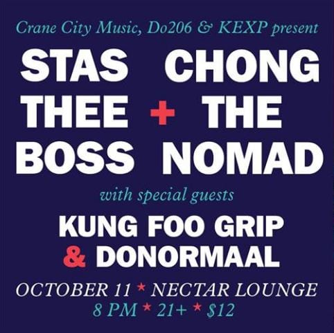 Stas Thee Boss And Chong The Nomad Split LP Release Show At Nectar Lounge