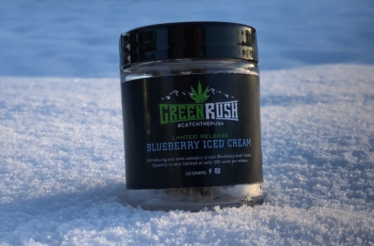 greenrush blueberry iced cream strain review