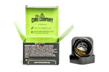 a photo of the cure company live resin mimosa strain