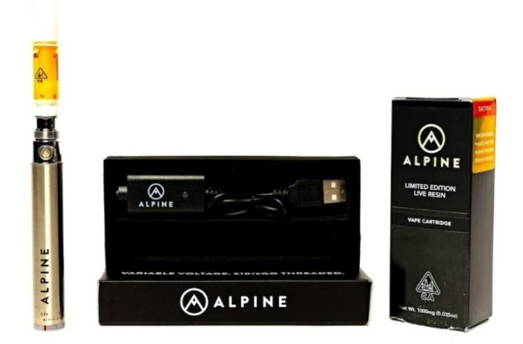 Golden Strawberry Lemonade Live Resin Vape Cartridge Review Featuring Alpine Vapor in California