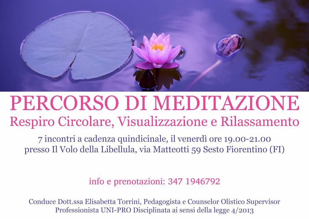 Percorso di meditazione, respiro circolare, visualizzazione e rilassamento