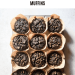 chocolate sweet potato muffins topdown