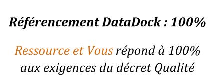Référencement Qualité DataDock Ressource et Vous