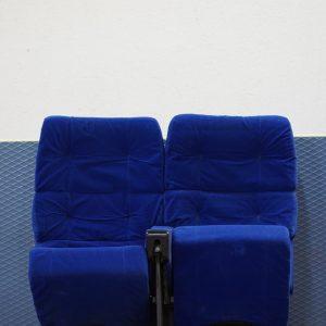 Siège de cinéma bleu