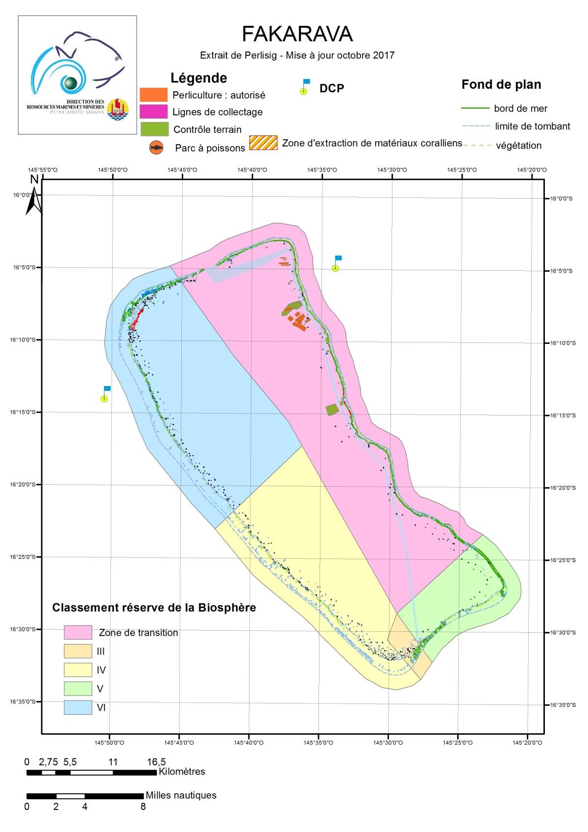 Atlas de Polynésie : Fakarava au 06/10/2017