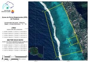Punaauia - Atehi : Zone de Pêche Réglementée