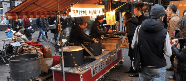 Swiss street food in winter