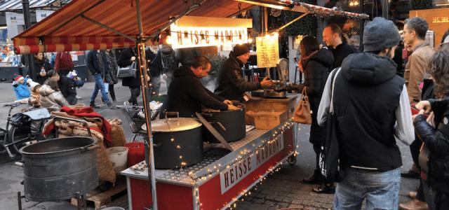 Swiss street food in winter