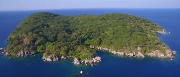 Forest on middle of Lake Malawi at Monkey-Bay
